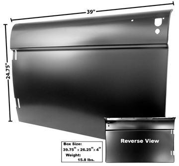 Picture of DOOR SKIN LH 1966 : 3711B BRONCO 66-66