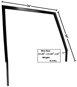 Picture of DOOR WINDOW FRAME RH 1966-68 : 3712 BRONCO 66-68