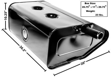 Picture of GAS TANK 66-76 BRONCO : T100 BRONCO 66-76