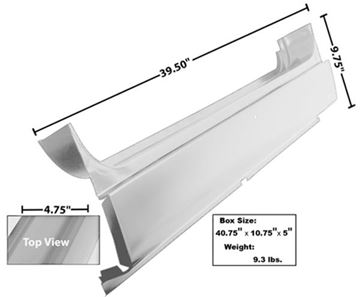 Picture of ROCKER PANEL LH 66-77 : 3761WT BRONCO 66-77