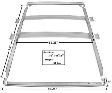Picture of ROOF INNER BRACE 66-77 7 PCS : 3752AWT BRONCO 66-77