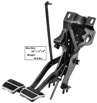 Picture of CLUTCH & BRAKE PEDAL ASSEMBLY 4 SPD : 1006PA CAMARO 67-69