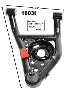 Picture of CONTROL ARM LOWER LH 67-69 TUBULAR : 1003I CAMARO 67-69