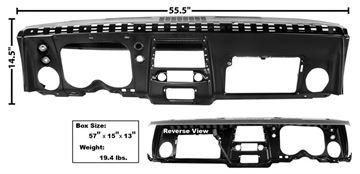 Picture of DASH PANEL COMPLETE 68 STEEL : 1068DA CAMARO 68-68