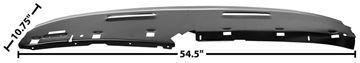 Picture of DASH UPPER PANEL (STEEL) 69 CUSTOM : 1068EE CAMARO 69-69