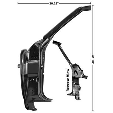 Picture of DOOR FRAME INNER LH 68 : 1023H CAMARO 68-68