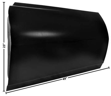 Picture of DOOR SHELL LH 68 CUSTOM : 1076DX CAMARO 68-68