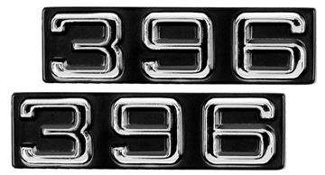 Picture of EMBLEM 70-72 FENDER EMBLEM 396 PAIR : EM6830 CAMARO 70-72