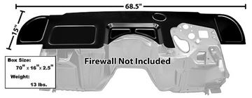 Picture of FIREWALL 1968-69 CUSTOM COVER : 1046GA CAMARO 69-69