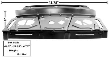 Picture of PACKAGE SHELF PANEL 67-69 COUPE : 1001C CAMARO 67-69