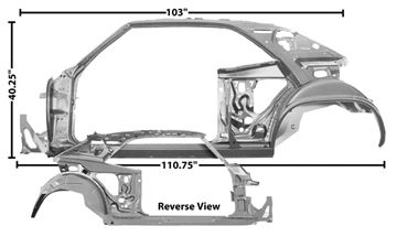 Picture of QUARTER/DOOR FRAME ASSY LH 69 COUPE : 1023B CAMARO 69-69