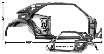 Picture of QUARTER/DOOR FRAME ASSY RH 67 COUPE : 1021A CAMARO 67-67