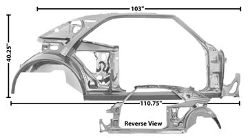 Picture of QUARTER/DOOR FRAME ASSY RH 69 COUPE : 1023A CAMARO 69-69