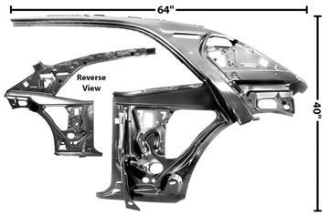 Picture of QUARTER/DOOR FRAME INNER LH 67-69 : 1023F CAMARO 67-69