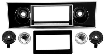Picture of RADIO BEZEL & KNOB KIT 1967-68 : AM-1000 CAMARO 67-68