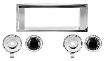 Picture of RADIO BEZEL & KNOB KIT 1969 : AM-1010 CAMARO 69-69