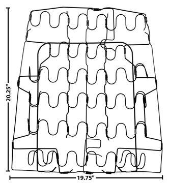 Picture of SEAT BACK SPRING 67-69 RH=LH : 1052P CAMARO 67-69