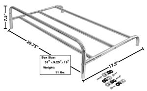 Picture of TRUNK LID LUGGAGE RACK : 1049LD CAMARO 67-69
