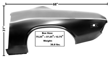 Picture of QUARTER PANEL LH 72-74 CHALLENGER : 6097 CHALLENGER 72-74