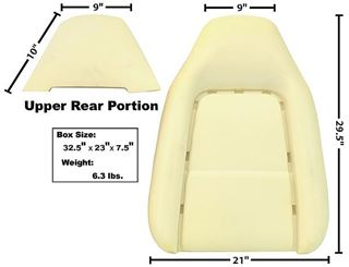 Picture of SEAT BACK CUSHION 70-74 : 6029B CHALLENGER 70-74