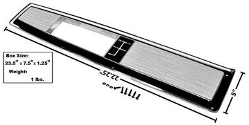 Picture of CONSOLE DOOR TOP PLATE 68-72 4 SPED : 1499H CHEVELLE 68-72