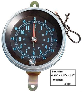 Picture of CONSOLE MOUNTED CLOCK 66-67 : 1400A CHEVELLE 66-67