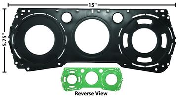 Picture of DASH GAUGE PLATE 64-65 : 1451X CHEVELLE 64-65