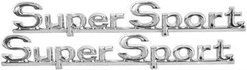 Picture of EMBLEM 66 QUARTER SUPER SPORT PAIR : EM4315 CHEVELLE 66-66