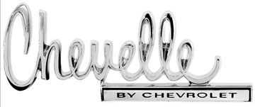 Picture of EMBLEM TRUNK CHEVELLE BY CHEVROLET : EM4676 CHEVELLE 70-70