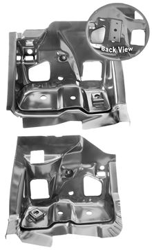 Picture of FIREWALL/FRAME BRACKET 68-69 PAIR : 1509F CHEVELLE 68-72