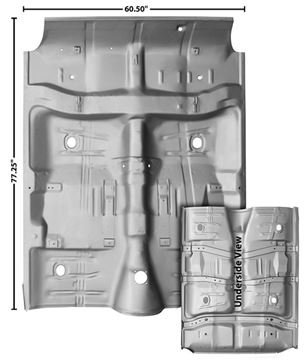Picture of FLOOR PAN COMPLETE 64-67 W/BRACES : 1462WAWT CHEVELLE 64-67