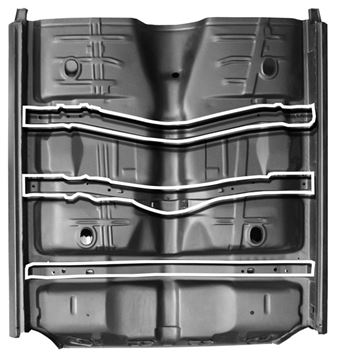 Picture of FLOOR PAN COMPLETE W/REAR SEAT PAN : 1462X CHEVELLE 68-69
