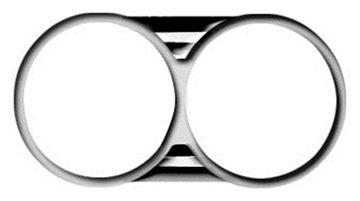Picture of HEADLAMP BEZEL 1966  **PAIR** : M1385 CHEVELLE 66-66