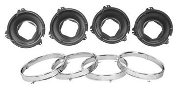 Picture of HEADLAMP MOUNT BUCKET W/RINGS SET : LH30 CHEVELLE 64-69