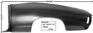 Picture of QUARTER PANEL FULL LH CONVERTIBLE 70-72 : 1473Z CHEVELLE 70-72