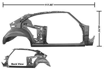 Picture of QUARTER/DOOR FRAME ASSY RH 68 : 1475P CHEVELLE 68-68