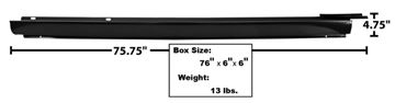 Picture of ROCKER PANEL OUTER RH 64-67 : 1489Y CHEVELLE 64-67