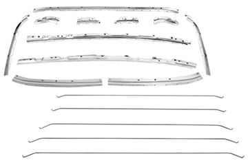 Picture of ROOF INNER BRACE KIT 68-72 : 1418PWT CHEVELLE 68-72
