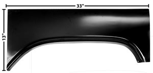 Picture of BED CENTER WHEEL ARCH PANEL RH 60/6 : 1160QG CHEVY PICKUP 60-66