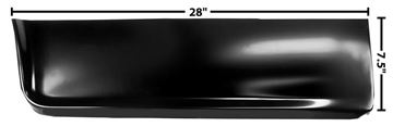 Picture of BED FONT LOWER SEC. RH 60-66 : 1160QA CHEVY PICKUP 60-66