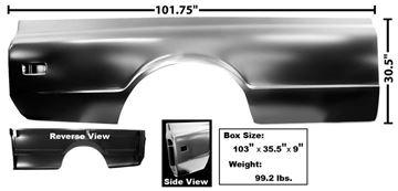 Picture of BEDSIDE RH 68-72 FLEET SIDE 8' : 1160E CHEVY PICKUP 68-72