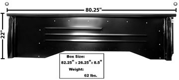 Picture of BEDSIDE STEPSIDE LH 67-72 SHORTBED : 1160S CHEVY PICKUP 67-72