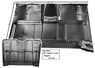 Picture of CAB FLOOR PANEL COMPLETE 67-72 : 1107E CHEVY PICKUP 67-72