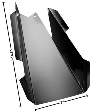 Picture of CAB FLOOR REAR SUPPORT LH 60-72 : 1106AN CHEVY PICKUP 60-72