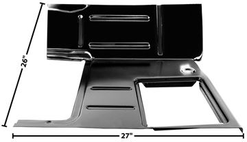 Picture of CAB FLOOR RH 47-55 : 1106AB CHEVY PICKUP 47-55