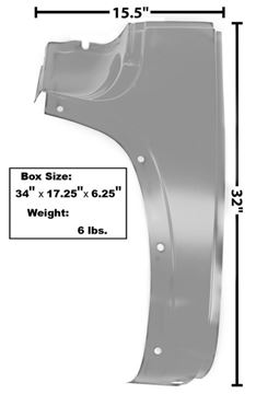 Picture of COWL OUTER LOWER PANEL LH 47-54 : 1106DAWT CHEVY PICKUP 47-54