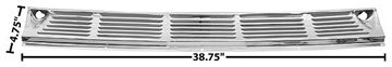 Picture of COWL VENT GRILLE 55-59 CHROME : 1106VA CHEVY PICKUP 55-59