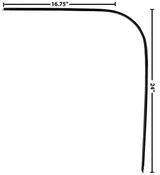 Picture of DRIP RAIL/DOOR CROWN TRIM LH 67-72 : 1102CB CHEVY PICKUP 67-72