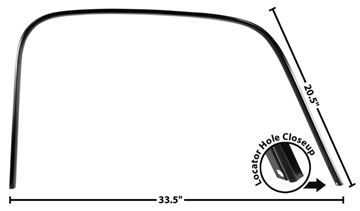 Picture of DRIP RAIL/DOOR CROWN TRIM RH 47-54 : 1102B CHEVY PICKUP 47-54