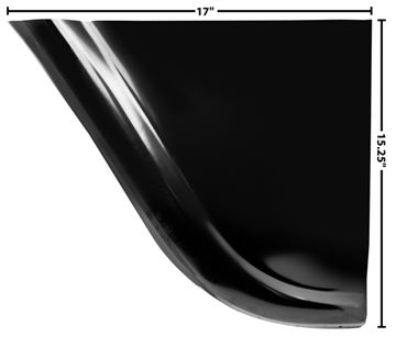 Picture of FENDER REAR LOWER PANEL LH 58-59 : 1097QH CHEVY PICKUP 58-59